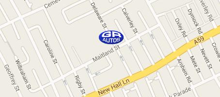 GR Autos - Preston - Map